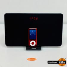 Apple Gear4 PG296 HouseParty 4 | iPod Speakerdock met AUX-input | incl. Apple iPod Nano V5 8GB Roze (accu defect) | incl. adapter en 30-pins kabel