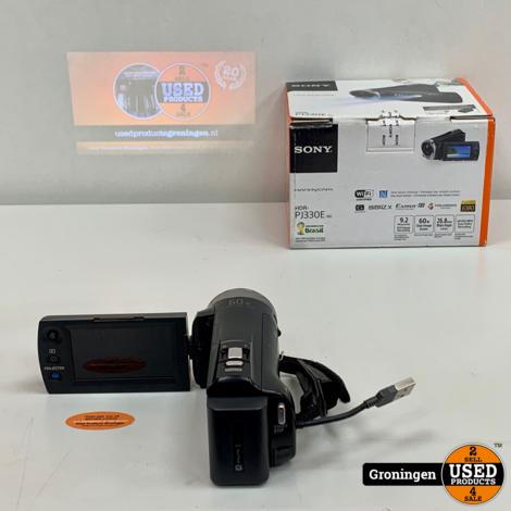 Sony HDR-PJ330E Full HD Camcorder met projector   30x zoom   incl. 16GB Micro SD, kabels en doos