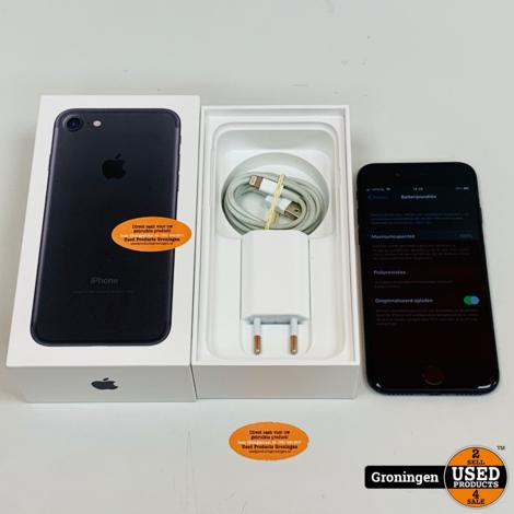 Apple iPhone 7 32GB Black   iOS 13.6   NIEUWE ACCU!   incl. lader en doos