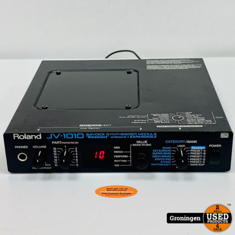 Roland JV-1010 64-voice Synthesizer Module | excl. Wave Expansion Board | incl. stroomadapter