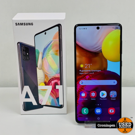 Samsung Galaxy A71 Prism Crush Black | NIEUWSTAAT! COMPLEET IN DOOS! | nota (23-07-2020)