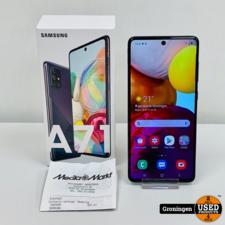 Samsung Samsung Galaxy A71 Prism Crush Black | NIEUWSTAAT! COMPLEET IN DOOS! | nota (23-07-2020)