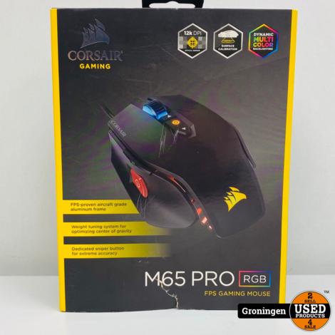 Corsair M65 Pro RGB - Optische Gaming Muis - 12000 DPI - Zwart