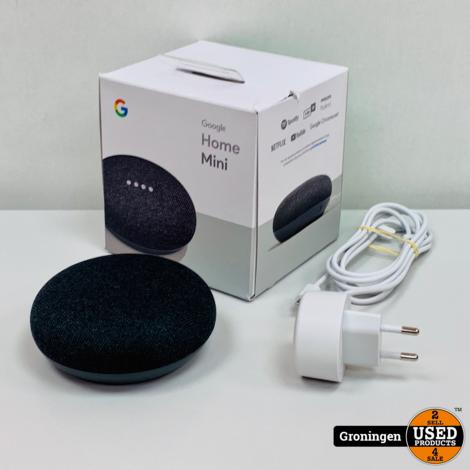 Google Home Mini Carbon Charcoal Black | Slimme speaker