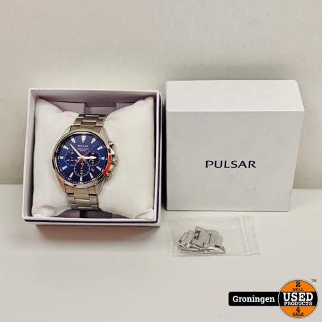Pulsar PT3A37X1 Herenhorloge chronograaf staal Ø43mm   NIEUWSTAAT! incl. nota (05-03-2020)