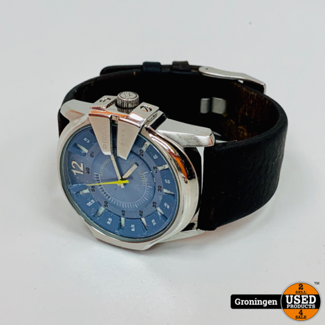 Diesel DZ1399 Master Chief horloge | Ø 45 mm - Leer - Mineraalglas