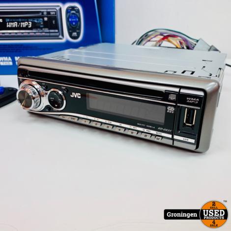 JVC KD-G631EY Autoradio met CD en USB met AB | 4x 50w | NIEUWSTAAT! COMPLEET IN DOOS