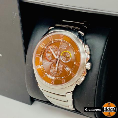 Citizen Eco-Drive H500-S054893   Chronograaf horloge   incl. extra schakels, boekje en doos