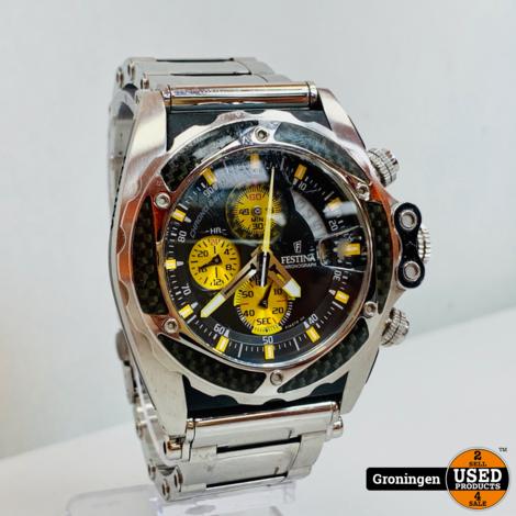 Festina F16273/5 Tour de France Chronograaf horloge Ø45mm | RVS Armband | Glas beschadigd