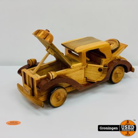 Houten Auto Ford | 39,3 x 13,2 x 15,5 cm (L x B x H)