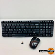 Rapoo Draadloos Toetsenbord E1050 + Draadloze Muis M10   incl. USB-dongle