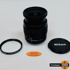 Nikon Nikon AF Nikkor 28-80mm 1:3.3-5.6 G objectief | incl. HAMA UV 390 (0-Haze) M58 filter en lensdop