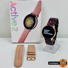 Samsung Samsung Galaxy Watch Active2 Rose Goud 40 mm RVS | COMPLEET IN DOOS | incl. extra bandje en nota (31-01-2020)