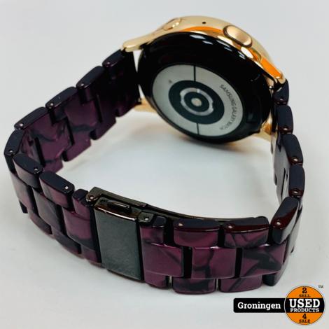 Samsung Galaxy Watch Active2 Rose Goud 40 mm RVS | COMPLEET IN DOOS | incl. extra bandje en nota (31-01-2020)