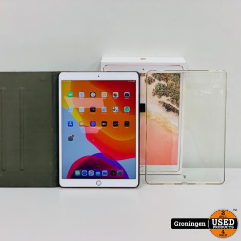 Apple iPad Pro 10.5 (2017) WiFi 64GB Rose Goud | Accu 100% COMPLEET IN DOOS | incl. nota (24-12-17) en 2 Covers