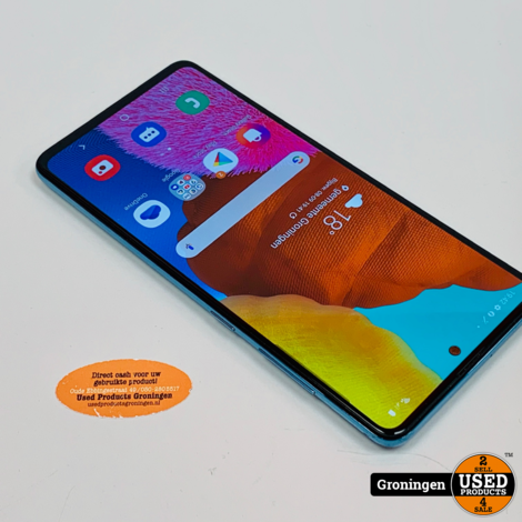 Samsung Galaxy A51 128GB Prism Crush Blue | Android 10 | incl. lader