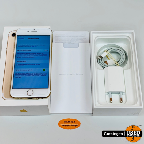 Apple iPhone 7 32GB Gold | NETTE STAAT! NIEUWE ACCU | incl. FlipCover, lader, boekjes en doos
