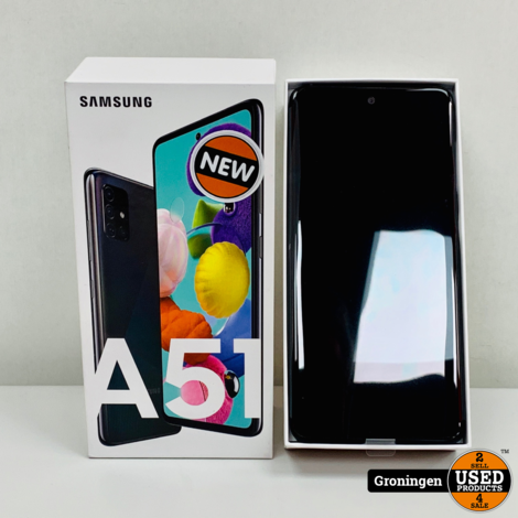 Samsung Galaxy A51 128GB Prism Crush Black | NIEUW IN DOOS! | nota (08-05-20)