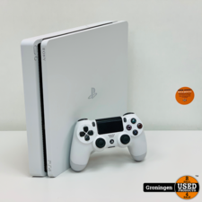 Sony PlayStation [PS4] Sony PlayStation 4 Slim 500GB Glacier White | incl. Sony DualShock 4 Controller V2 en kabels