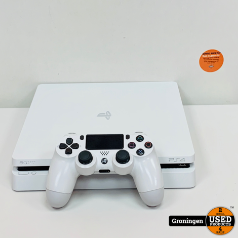 [PS4] Sony PlayStation 4 Slim 500GB Glacier White | incl. Sony DualShock 4 Controller V2 en kabels