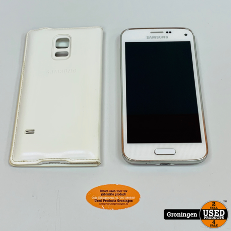 Samsung Galaxy S5 Mini G800F 16GB White 4G | Android 6.0 | NETTE STAAT! incl. Samsung FlipCover