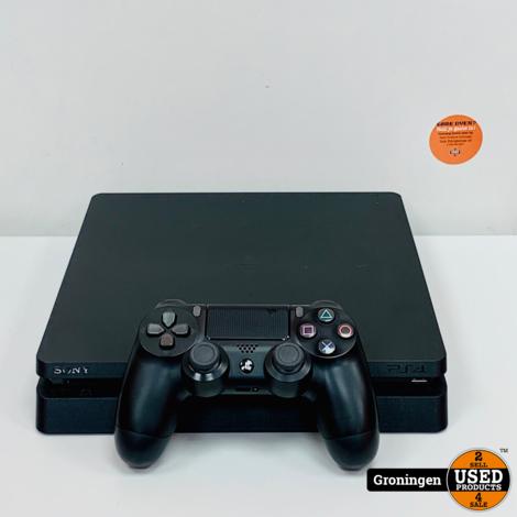 [PS4] Sony PlayStation 4 Slim 500GB Zwart   incl. Sony DualShock 4 controller en kabels