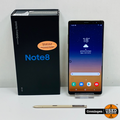 Samsung Galaxy Note 8 N950 64GB Maple Gold Dual-SIM | incl. Backcover, lader en doos