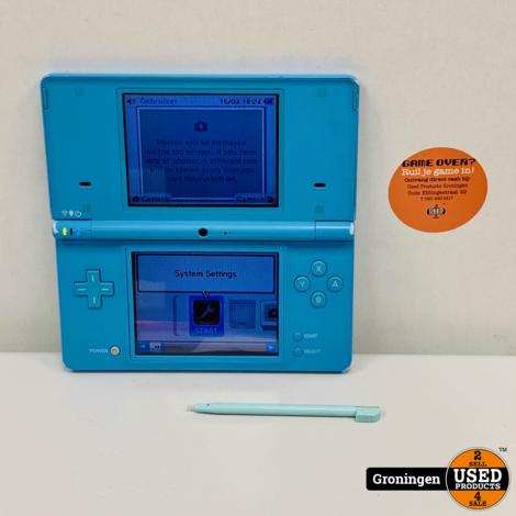 [DS] Nintendo DSi Light Blue | incl. stylus en lader