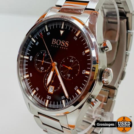 Hugo Boss 1513712 Pioneer RVS Chronograaf horloge Ø44mm | NETTE STAAT!