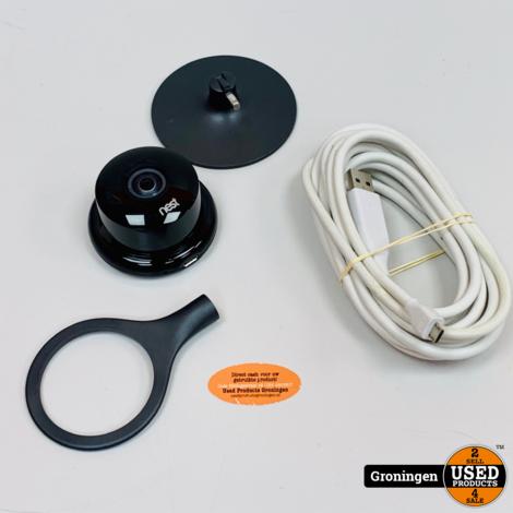 Google Nest Cam Indoor beveiligingscamera   incl. 3 mtr Micro USB-kabel
