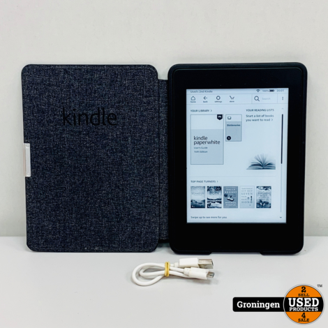 Amazon Kindle DP75SDI E-reader Paperwhite 4GB WiFi Zwart + FlipCover