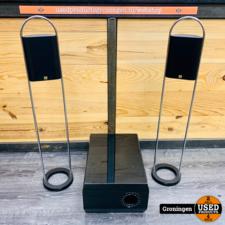 JAMO JAMO SAT 300 Speakerset + JAMO ABR Tube Subwoofer | incl. Design speakerstands