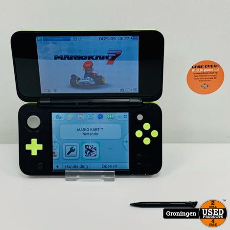 [3DS] New Nintendo 2DS XL Lime/Groen + Mario Kart 7 | incl. 4GB MicroSD en lader