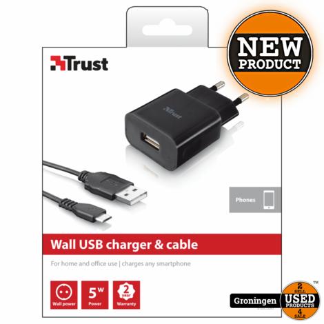 Trust 19346 5W Wandoplader & micro USB-kabel | NIEUW