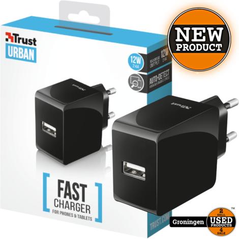 Trust 21710 12W Fast wandlader met USB-poort voor smartphones en tablets | NIEUW