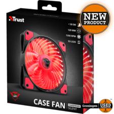 Trust Trust 22349 GXT 762R LED Illuminated silent PC case fan - black/red   NIEUW