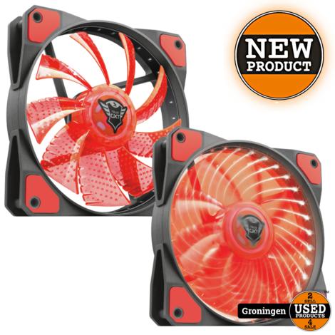 Trust 22349 GXT 762R LED Illuminated silent PC case fan - black/red   NIEUW