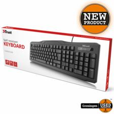 Trust Trust 20638 ClassicLine toetsenbord QWERTY Zwart USB   NIEUW