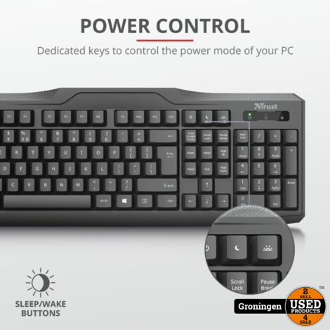 Trust 20638 ClassicLine toetsenbord QWERTY Zwart USB   NIEUW