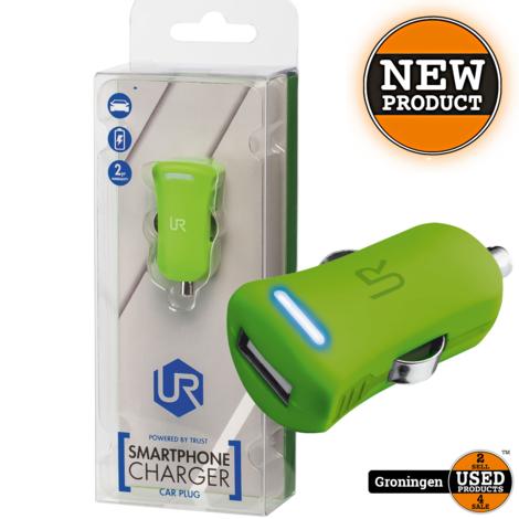 Trust 20154 Universele 5W-USB-oplader met 12-24V-autoaansluiting Lime Groen | NIEUW