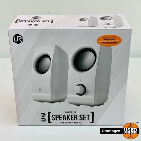 Trust 22958 speakerset voor laptop/computer wit | NIEUW