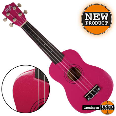CLXmusic Ukelele Calista 21 Pink + Glitters | NIEUW