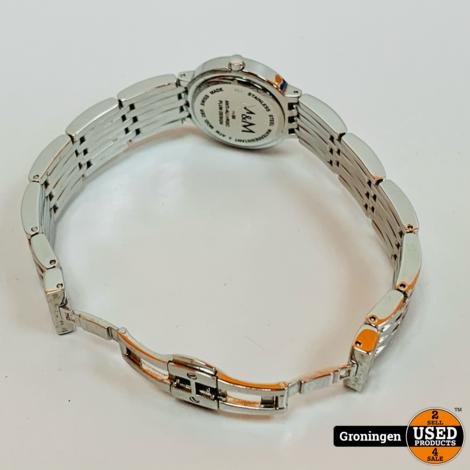 M&M Germany M15459-145 dameshorloge Ø27mm RVS Mineraalglas