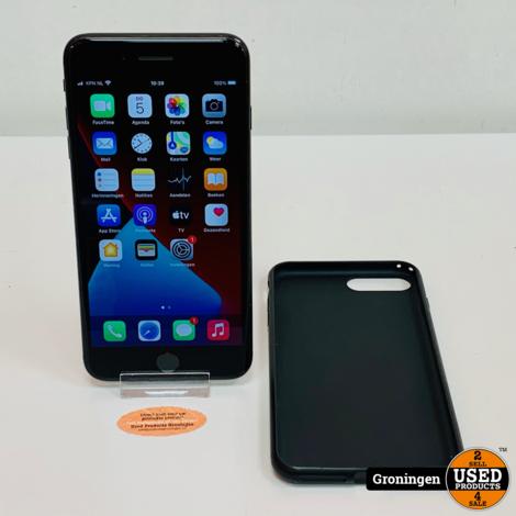 Apple iPhone 7 Plus 32GB Black   iOS 14.1   Accu 80%   incl. Cover en lader
