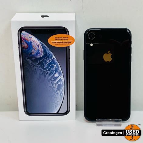 Apple iPhone XR 64GB Black NETTE STAAT! | Accu 91% | incl. lader, boekjes en doos