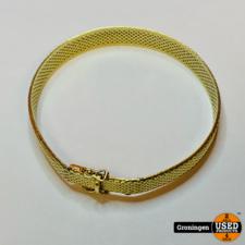 Gouden Slavenarmband 14 karaat 19,5cm / 10mm breed   585/1000   24,19 gram