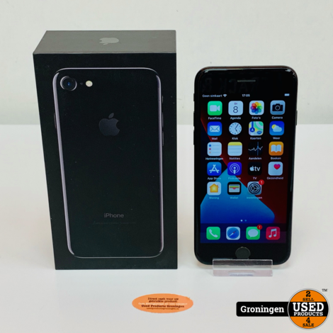 Apple iPhone 7 128GB Jet Black | iOS 14.2 | NIEUWE ACCU! | incl. lader, boekjes en doos
