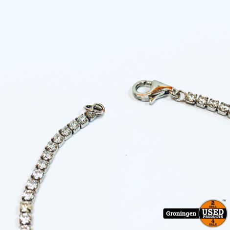 Zilveren armband gezet met zirkonia's 18,5cm / 2,11mm | 925/1000 | 3,69 gram