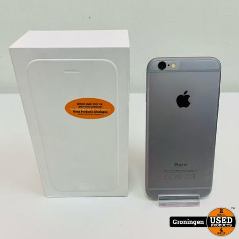 Apple iPhone 6 16GB Space Gray MG472ZD/A | iOS 12.5 | Accu 86% | incl. lader, boekjes en doos