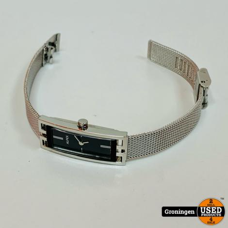 Alfex Swiss Made 5662-005 dameshorloge Quartz 16mm | Mineraalglas | Mesh bandje